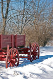 Wagon In Winter Stock Images