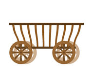 Wagon wood. Old farm transport. Ancient cargo carriage Royalty Free Stock Photography