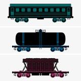 Wagons de chemin de fer Images libres de droits