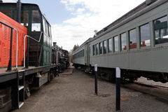 Wagons de chemin de fer antiques de train Photos libres de droits