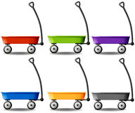 Wagons in different colors Royalty Free Stock Photos