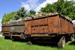 Wagons of firewood Royalty Free Stock Photography