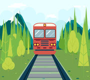 Wagons In Forest Tourism and Journey Symbol Royalty Free Stock Photography