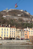 Wagonu kolei linowej i Bastille forteca Obraz Stock