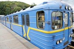 Wagony metru w Kijów Fotografia Stock