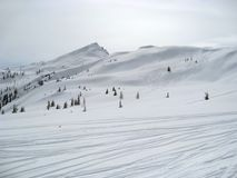 Wagrain winter scenery Royalty Free Stock Images