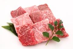 Wagyu,神户牛肉,日语使牛肉有大理石花纹 库存图片