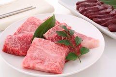 Wagyu, βόειο κρέας του Kobe, ιαπωνικά βόειο κρέας και συκώτι στοκ εικόνες με δικαίωμα ελεύθερης χρήσης