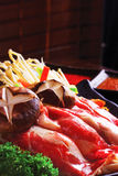 Wagyu beef hotpot from japan. This is a wagyu beef hotpot(Sukiyaki) from japan Stock Photos