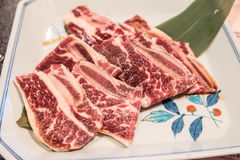 Wagyu beef rib Stock Photos