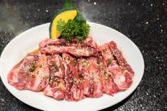 Wagyu beef rib yakiniku royalty free stock image