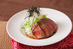 Wagyu Beef Steak. On a plate Stock Photo