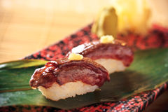 Wagyu beef sushi from japan Stock Images