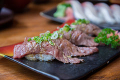 Wagyu beef sushi set Stock Photography