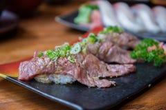 Wagyu beef sushi set Stock Photography