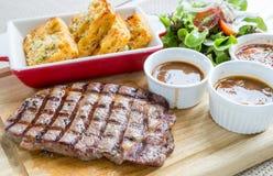 Wagyu rib-eye beef steak Stock Photos