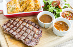 wagyu rib-eye beef steak Stock Photo