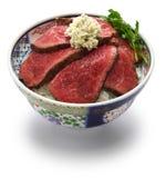 Wagyu-Roastbeefschüssel Stockfoto