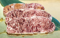 Wagyu Sirloin meat BBQ Royalty Free Stock Photo