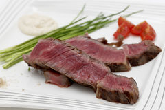 Wagyu steak dinner closeup Stock Image