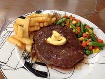 Wagyulapje vlees met boter Royalty-vrije Stock Afbeeldingen