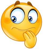 Waha się emoticon Zdjęcia Royalty Free