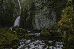 Wahclella Falls, Tanner Creek Royalty Free Stock Photos