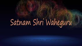 Waheguru del shri de Satnam salogan de la religión sikh libre illustration