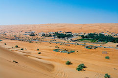 Wahiba Sands, Oman. Village in the Wahiba Sands, Oman Royalty Free Stock Image