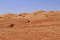 The Wahiba Sands Stock Image