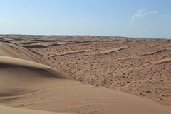 Wahiba (Sharqiya) Sands. This picture sums up just how vast the Wahiba Sands is. Oman Stock Photos