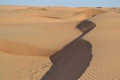 Wahiba (Sharqiya) Sands,. Showing the vast desert region of the Wahiba Sands Stock Photo