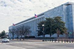 WAHINGTON, D C - 10 JANUARI, 2014: Bibliotheek van Congres - James Madison Memorial Building Royalty-vrije Stock Fotografie