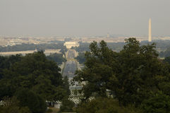 Wahington DC 7. A view of the Mall from Arlington House Royalty Free Stock Image