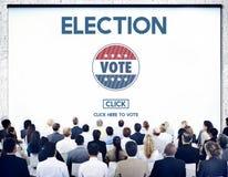 Wahl-Abstimmungs-Regierungs-auserlesenes Abstimmungskonzept stockbild