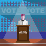 Wahl-Debatten Stockfotos