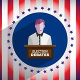 Wahl debattiert Flieger Stockfotografie