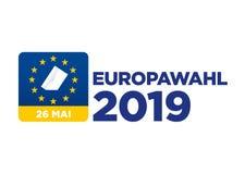 Wahl des Europ?ischen Parlaments 2019 stock abbildung