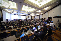 Wahl des Präsidenten des russischen Fußball-Verbands Stockfotografie