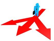 Wahl. Konzept mit Menschen 3d. Illustration 3d Vektor Abbildung