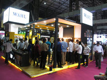 Wahl products exhibition stand Stock Image