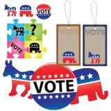 Wahl von Democrats und von Republikanern Stockbild
