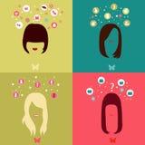 Wahl von vier Mädchen Lizenzfreie Stockbilder