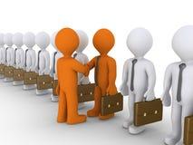 Wahl von Zusammenarbeit zwischen zwei Geschäftsmännern Lizenzfreies Stockfoto