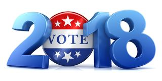 2018 Wahl - Wiedergabe 3d Stockfotos