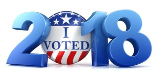 2018 Wahl - Wiedergabe 3d Stockbild