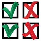 Wahl (Zecke und Kreuz) Lizenzfreies Stockfoto