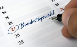 Wahldatum Lizenzfreies Stockbild