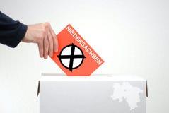 Wahlen in der deutschen Region Niedersachsen Stockfotografie
