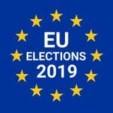 Wahlen 2019 der Europäischen Gemeinschaft vektor abbildung